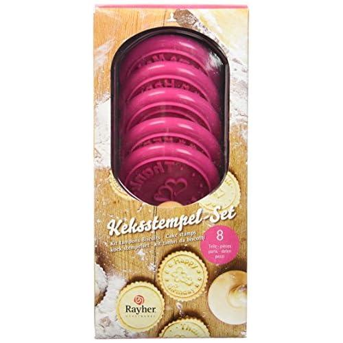 Rayher Hobby  Tampons pour Cookies Ø 6 cm Lot de 8 pièces