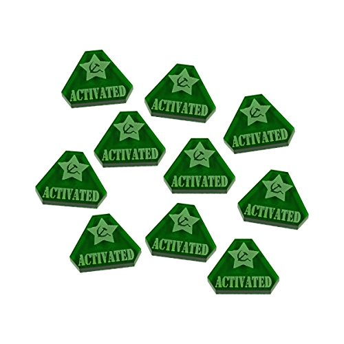 LITKO WWII Russian, Activated Tokens, Translucent Green (10)