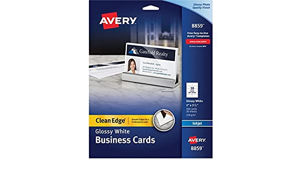 Amazon Avery 8859 Inkjet Clean Edge Business Cards