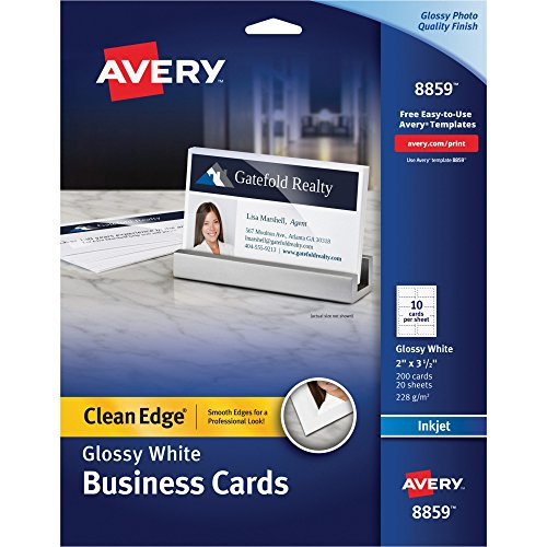 Avery Printable Business Cards, Inkjet Printers