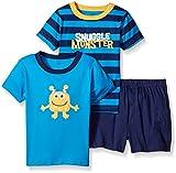 Gerber Toddler Boys' 3 Piece Shirt and Short Playwear Set, Snuggle Monster/Exclusive, 3T