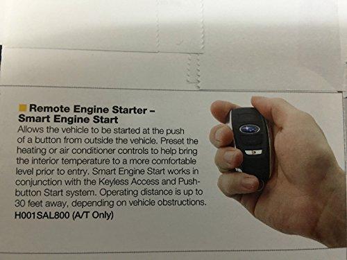 Genuine Subaru Remote Start 2015 2016 Legacy & Outback w/ Push Start H001SAL800 price