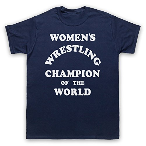 Women's Wrestling Champion Of The World Camiseta para Hombre azul marino