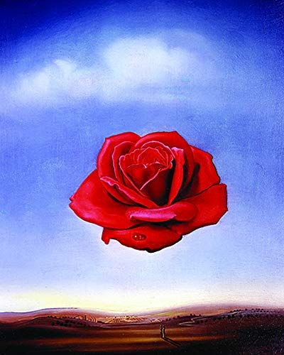 (Culturenik Salvador DALI-Rose Meditative Surrealist Art PAINTNG (8 x 10 Framed Print))