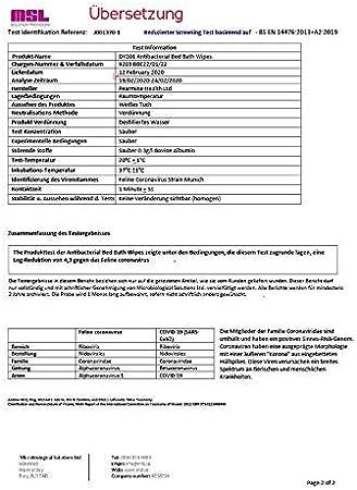 manos y cara Toallitas h/úmedas antibacterianas eliminaci/ón de g/érmenes cuerpo DYMACARE Toallitas antibacterianas ba/ño en cama Desinfecci/ón piel sin enjuague para adultos