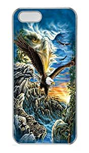 iPhone 5S Case and Cover -Find 11 Eagles Custom PC Hard Case Cover for iPhone 5/5S Transparent