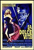 La Dolce Vita Fridge Magnet 6x8 Fellini Italian Movie Poster Magnetic Canvas Print