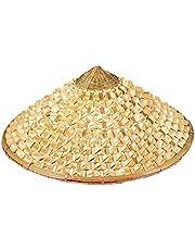 1 st sugrör bambu hatt kon trädgård bonde fiskehatt dans prestation rekvisita