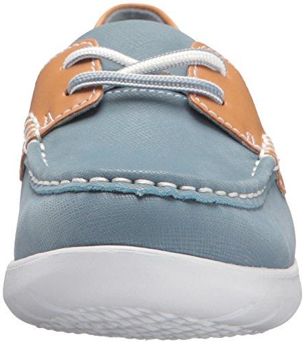 CLARKS Damen Jocolin Vista Bootsschuh Blau / Grau Synthetisch