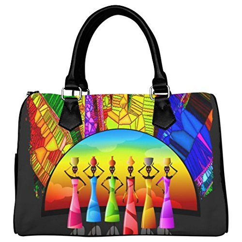 (Artsadd Custom African American Woman Barrel Type Handbag)