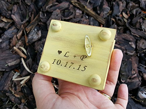 Custom made music box with love endures all things and infinity love sign engraved on the top, great wedding gift for the bride, handmade by simplycoolgifts