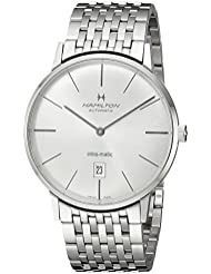 Hamilton Mens H38755151 Timeless Class Analog Display Automatic Self Wind Silver Watch
