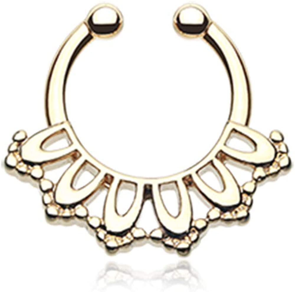 Covet Jewelry Golden Kaltik Filigree Septum Clicker