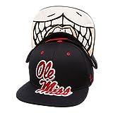 NCAA Ole Miss Rebels Men's The Menace Snapback Hat, Adjustable, Navy