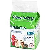 """IRIS Neat 'n Dry Premium Pet Training Pads, Small, 17.5"""" x 17.5"""", 25 Count"""