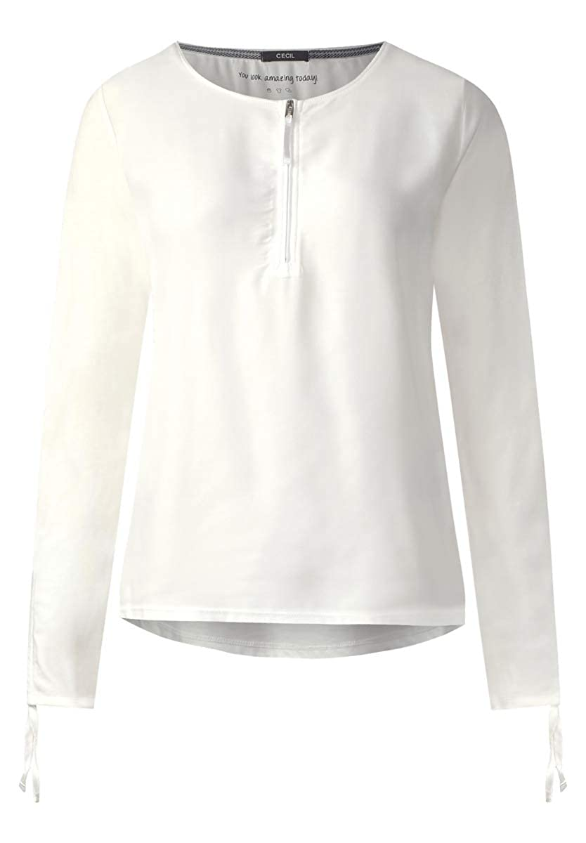 noch nicht vulgär ausgereifte Technologien Rabattgutschein Cecil - Lässiges Blusenshirt in Pure Off White