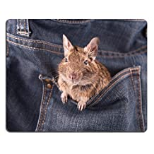 Natural Rubber Gaming Mousepad IMAGE ID: 13593190 Degu in the pocket