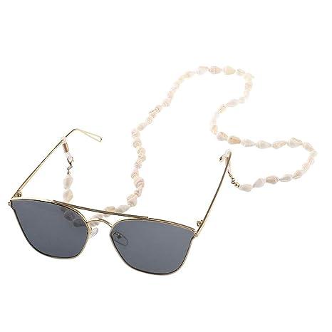 Pegcdu Mujeres Niñas Pequeña Concha Gafas de Sol Gafas de ...
