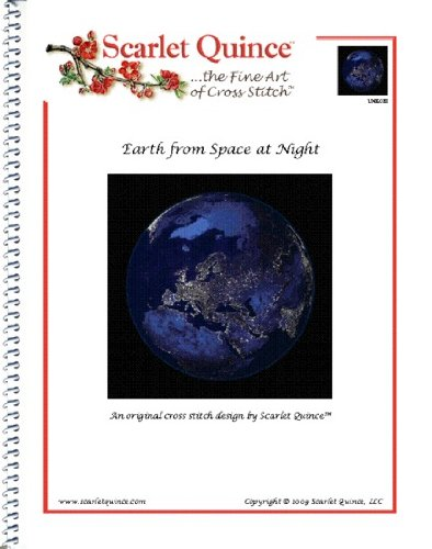 scarlet-quince-unk028-earth-from-space-at-night-counted-cross-stitch-chart-regular-size-symbols