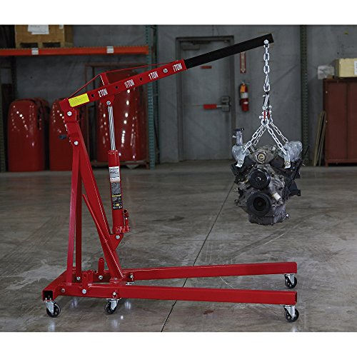Oil Capacity Lifts Parts : Strongway hydraulic engine hoist with load leveler ton