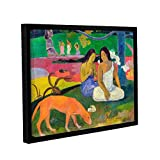 Paul Gauguin's Arearea, The Red Dog, Gallery-Wrapped Floater-Framed Canvas 24X32 Paul Gauguin Arearea, The Red Dog, Gallery-Wrapped Floater-Framed Canvas is a high-quality canvas print that captures Gauguin's style while working in Tahiti. It feature...