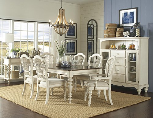 Hillsdale Furniture Pine Island 7-Piece Dining Set Old White