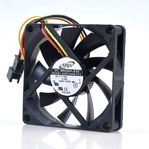 Color : Black CPU Cooler Computer Chassis Fan Small 3P + Large 4P Dual Interface // 7 Leaf Fan//Shock Absorber Pad//Gift 4 Screws
