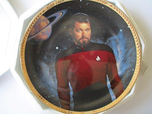 (Star Trek Next Generation William T Riker Collector Plate)