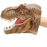Geminismart Dinosaur Hand Puppet for Kids Large Soft Rubber Realistic Tyrannosaurus Rex Head Hand Puppets (Tyrannosaurus)