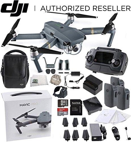 DJI Mavic Pro Fly More Combo Collapsible Quadcopter Drone -
