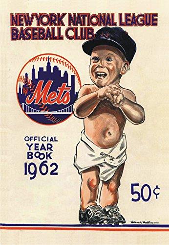 1962 N Y Mets Official Year Book Art, New York, Baseball, Souvenir Magnet 2 x 3 Photo Fridge Magnet
