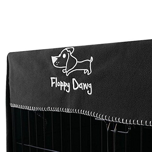Floppy Dawg Crate Cover. Fits 36 Inch Dog Crates or Smaller. Easy to Put On, Take Off, and Adjust. Doubles as a Comfy Blanket. Slate Gray Lightweight and Breathable Polar Fleece. by Floppy Dawg (Image #4)