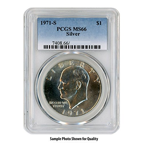 1971 S 40% Silver Eisenhower Ike Dollar $1 MS66 PCGS