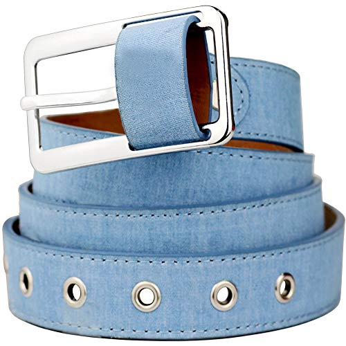 Bee Denim Belts Square Buckle Simple Waist Web Belts Jeans Pants Dress Clothing Accessories