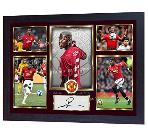 S&E DESING 18-19 New Paul Pogba Manchester United Photo Printed Signed Framed