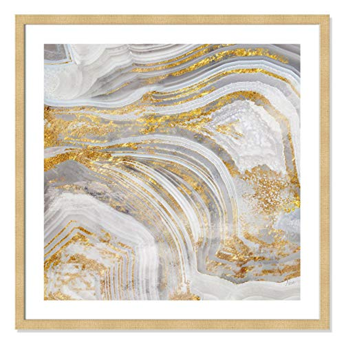 Casa Fine Arts Agate Allure I Gold and Silver Metallic Geode Archival Art Print, 31