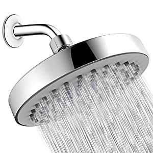 Shower Head - High Pressure Rain - Luxury Modern Look - Easy Tool Free Installation - The Perfect Adjustable & Heavy Duty Universal Replacement For Your Bathroom Shower Heads
