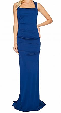 8b53621b73ee7 Adrianna Papell Womens Sleeveless Ruched Lola Jersey Gown at Amazon Women s  Clothing store