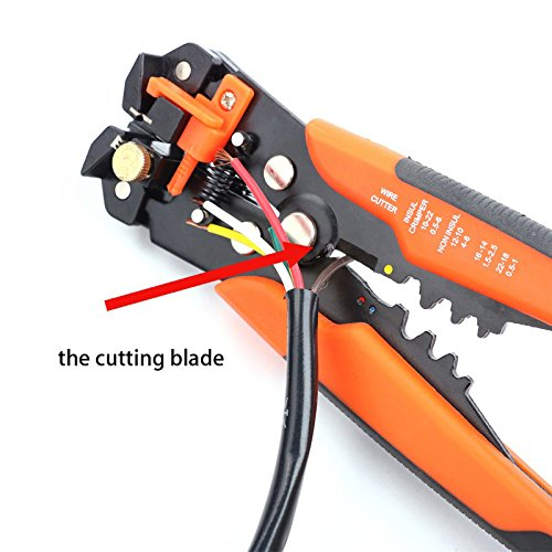 SHOWHASH Self-Adjusting Professional Multifunctional Cable Wire Stripper Plier Cutter Crimper Automatic Crimping Stripping Plier Tools by SHOWHASH (Image #4)