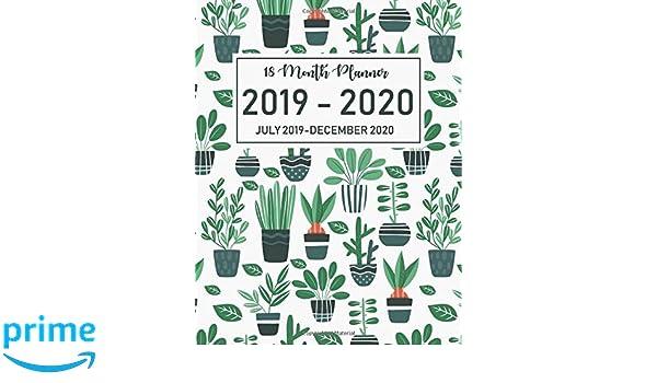 Amazon com: 18 Month Planner July 2019-December 2020