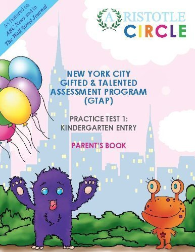New York City Gifted and Talented Practice Test 1 Kindergarten Entry
