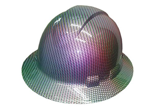 Full Graphics Hard Hat - Izzo Graphics Chameleon Carbon Fiber Pyramex Ridgeline Full Brim Hard Hat