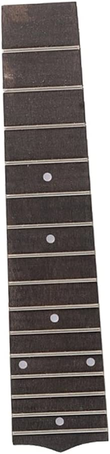 """21/"""" Ukulele Fingerboard Fretboard Luthier Tool Replacement Parts White Point"""