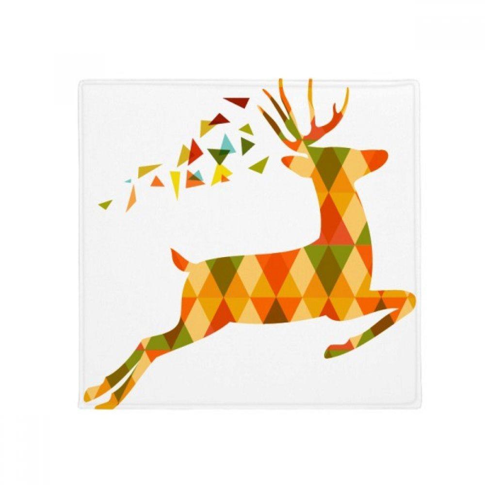 DIYthinker Christmas colorful Elk Lattice Festival Anti-Slip Floor Pet Mat Square Home Kitchen Door 80Cm Gift