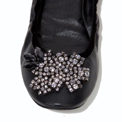 Flats for Black Ballet Flats Leather Flats Black Flats Flat GARDENIA Ballet Ballet Women Shoes qEv0YY