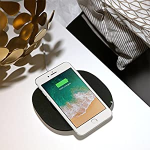 Belkin Boost Up Qi (5 W) Wireless Charger for iPhone X, iPhone 8 Plus, iPhone 8, Samsung Galaxy S9+/S9 and other Qi Enabled Devices (Qi-Certified Inductive Charging Pad) AC Adapter Sold Separately, Black