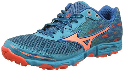 Capri Hayate Breeze Blue Fiery Sapphire Chaussures Turquoise Femme Wave Mizuno Coral de Running 2 Compétition wqHxR5zO