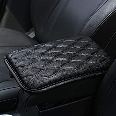 Dotesy Auto Center Console Cover Armrest Pads, PU Leather Universal Car Center Console Box Arm Rest Pads Cushion Protector (Black): Automotive