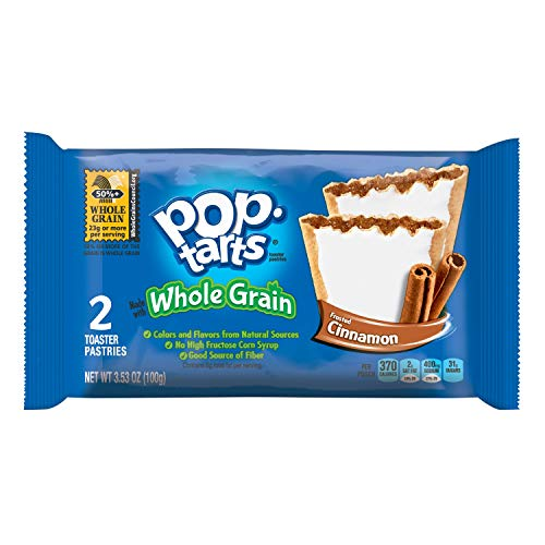 Pop-Tarts Breakfast Toaster Pastries, Whole Grain Frosted Brown Sugar Cinnamon Flavored, Bulk Size, 144 Count (Pack of 12, 21.1 oz Boxes) (Low Fat Brown Sugar Cinnamon Pop Tarts)
