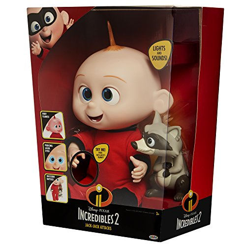 The Incredibles 2 Jack-Jack Plush-Figure Features Lights & Sounds and comes with Raccoon Toy by The Incredibles 2 (Image #9)
